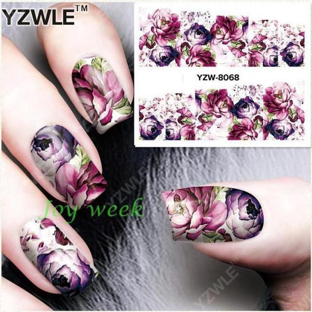 Water Sticker For Nails Art All Decorations Sliders Flowers Lace