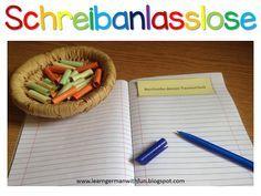Schreibanlässe für die Grundschule. Tolle Vorlagen und Ideen für kurze Texte. Ideal für DaF und Schreibübungen in der Grundschule.