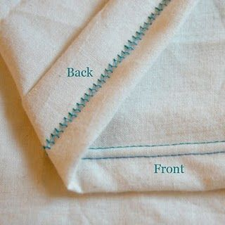 Cover stitch without an overlocker but a double needle