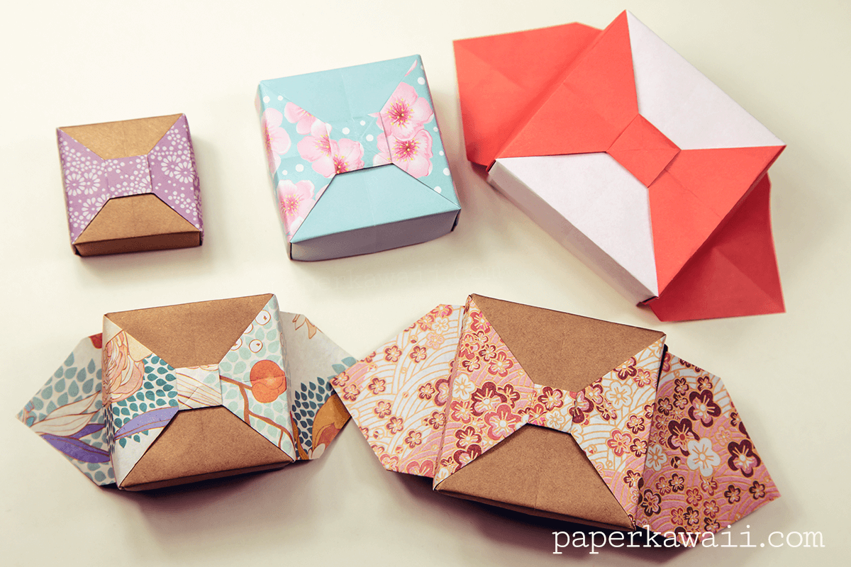 Origami box with bow tutorial origami boxes bow tutorial and origami box with bow tutorial jeuxipadfo Image collections