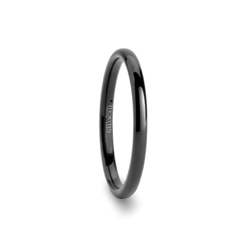 Black Tungsten Promise Rings