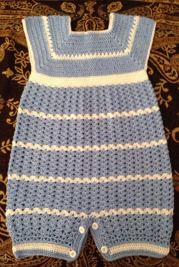 Crochet barboteuse pour bebe - BBerthe | Tejidos Carmen | Pinterest ...
