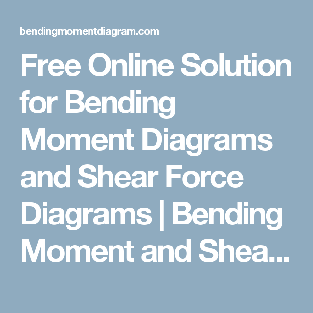 Incredible Free Online Solution For Bending Moment Diagrams And Shear Force Wiring Digital Resources Cettecompassionincorg
