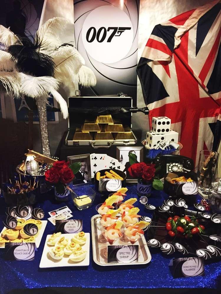James Bond 007 Birthday Party Ideas Mottoparty Einladung