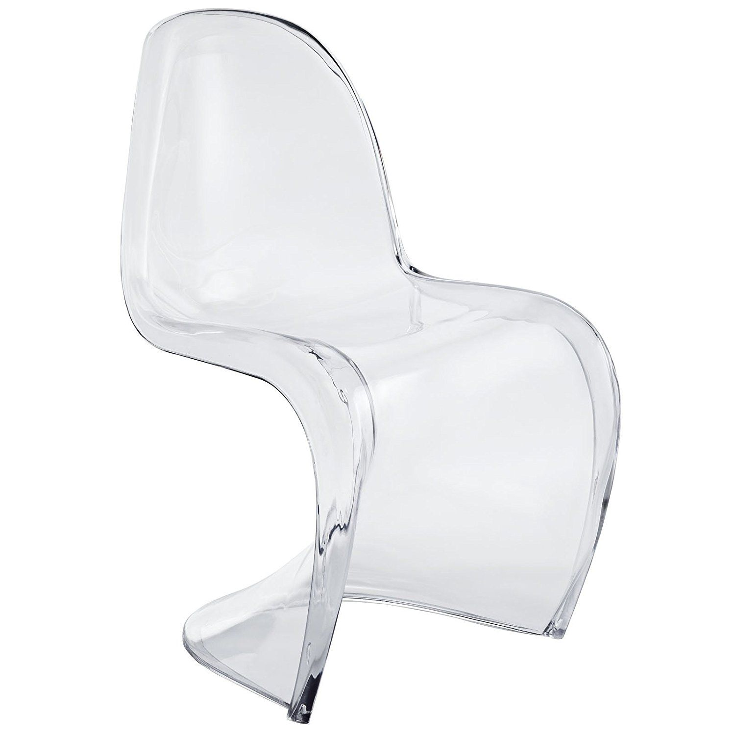 Amazon LexMod Slither Dining Side Chair Clear Chairs