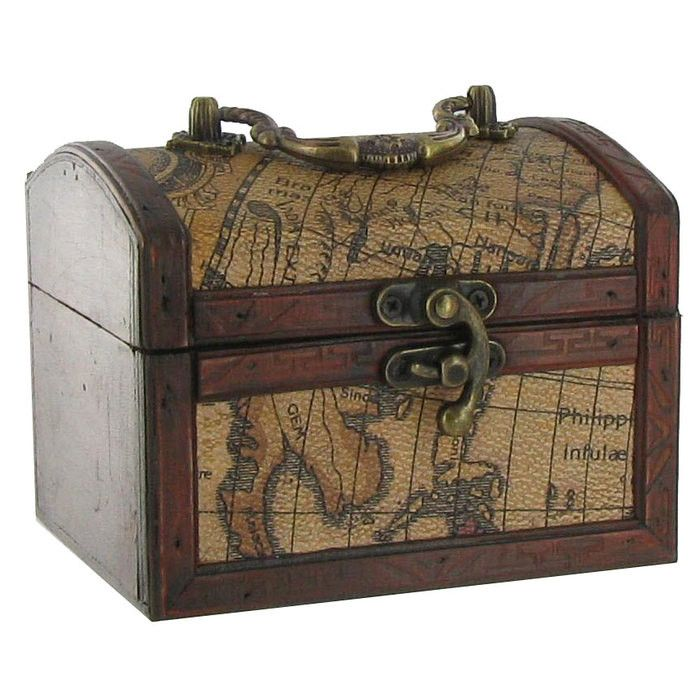 Decorative Trunk Boxes Classy World Patterned Wood & Leather Box  Decorative Storage Review