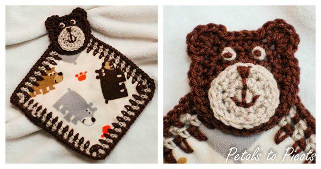 Bear Lovey and Applique Pattern | DIY - Crochet | Pinterest