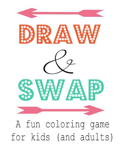 Draw and Swap Family Game | Crafting in the Rain  {New Year's Eve Ideas for Kids and Families}