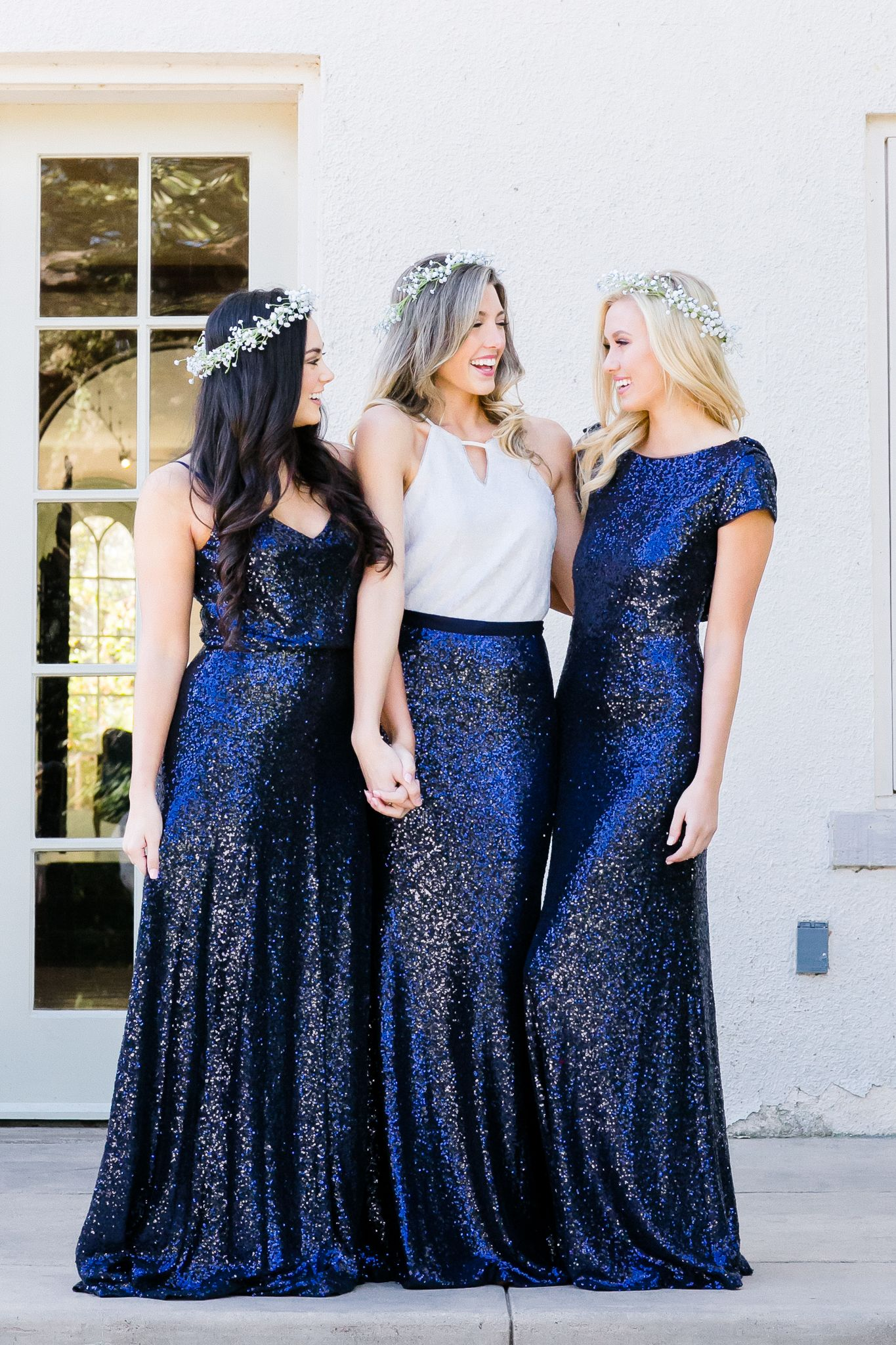 Mix and match bridesmaid dresses and separates from revelry sequin