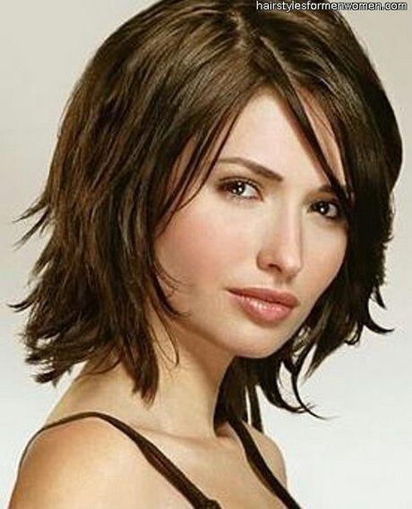 Medium Length Shag Hairstyles Medium Length Shag Haircut  Short Haircuts For Round Face