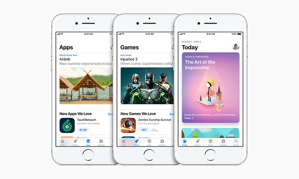Apple Reveals Beautifully Redesigned App Store Coming to iOS 11