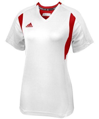 adidas Womens Utility Short Sleeve Jersey Medium WhiteRed ** Learn ...