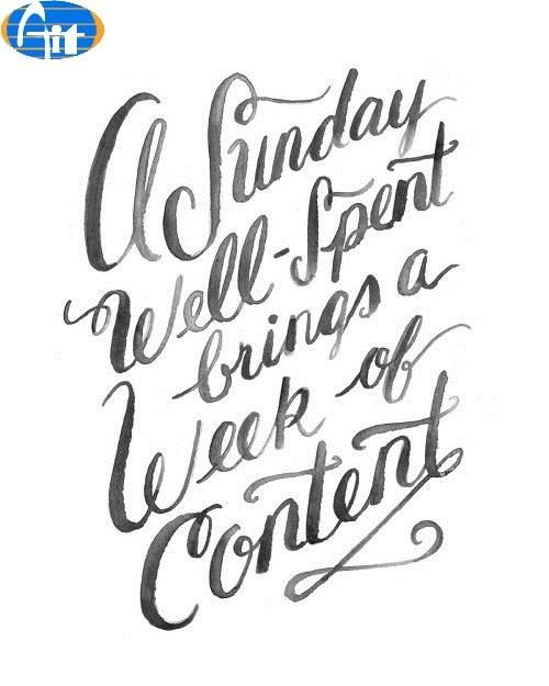 A Sunday Well Spent Brings A Week Of Content Aiitech Quotes