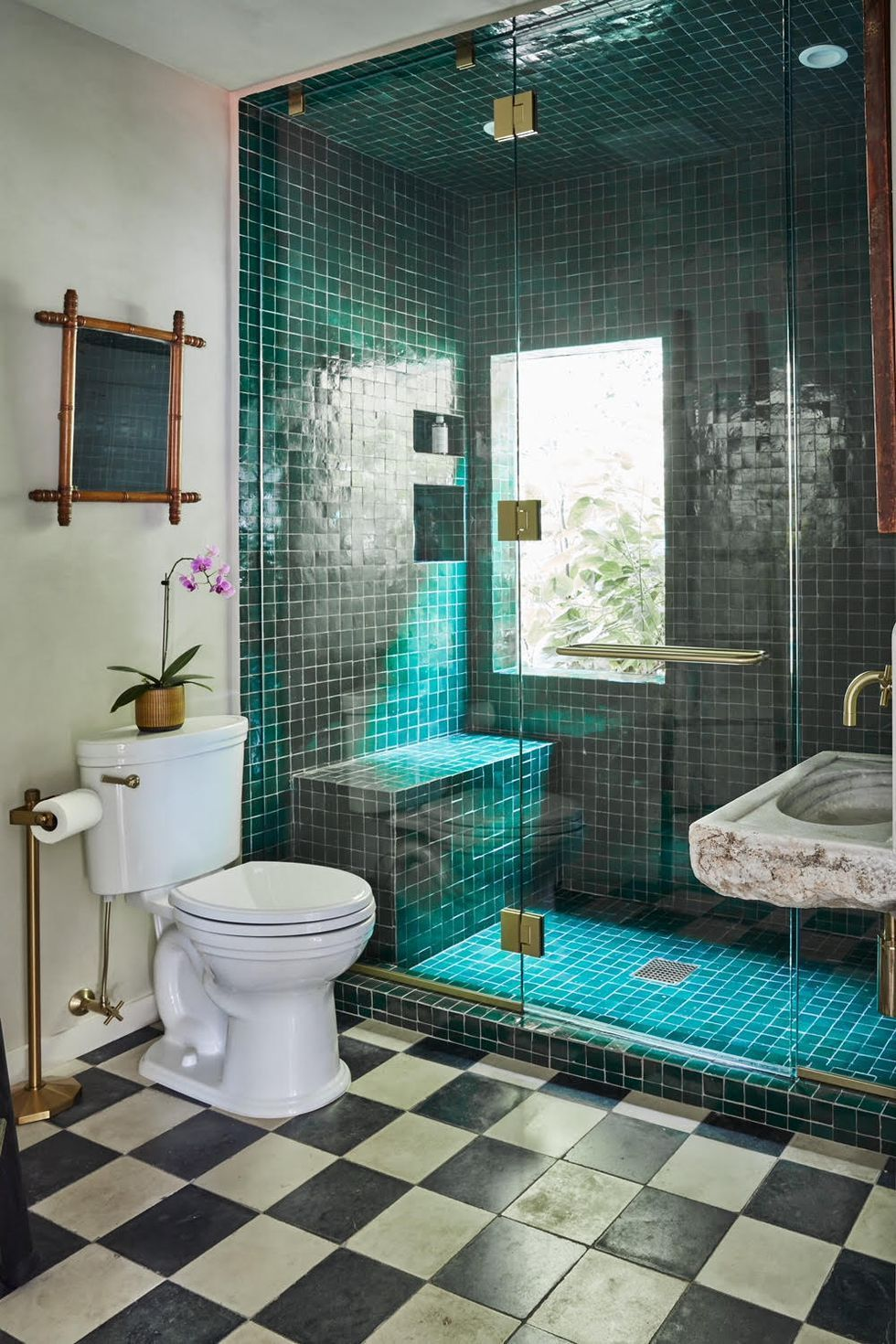 Bathroom with green tiles   BATHROOM - BLOG   Pinterest   Spanish ...