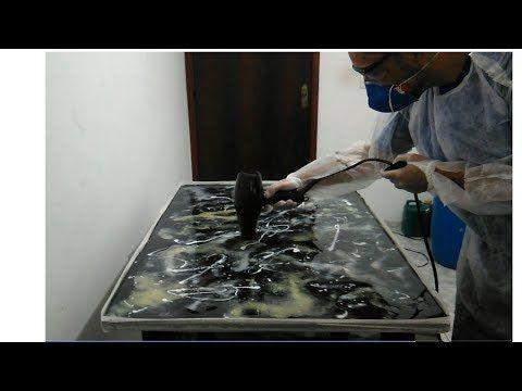 Porcelanato Liquido Marmorizado Na Mesa Youtube Com Imagens