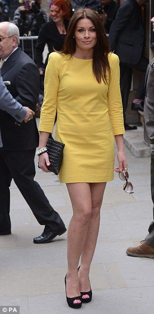 alison King looked lovely as they arrived at the venue