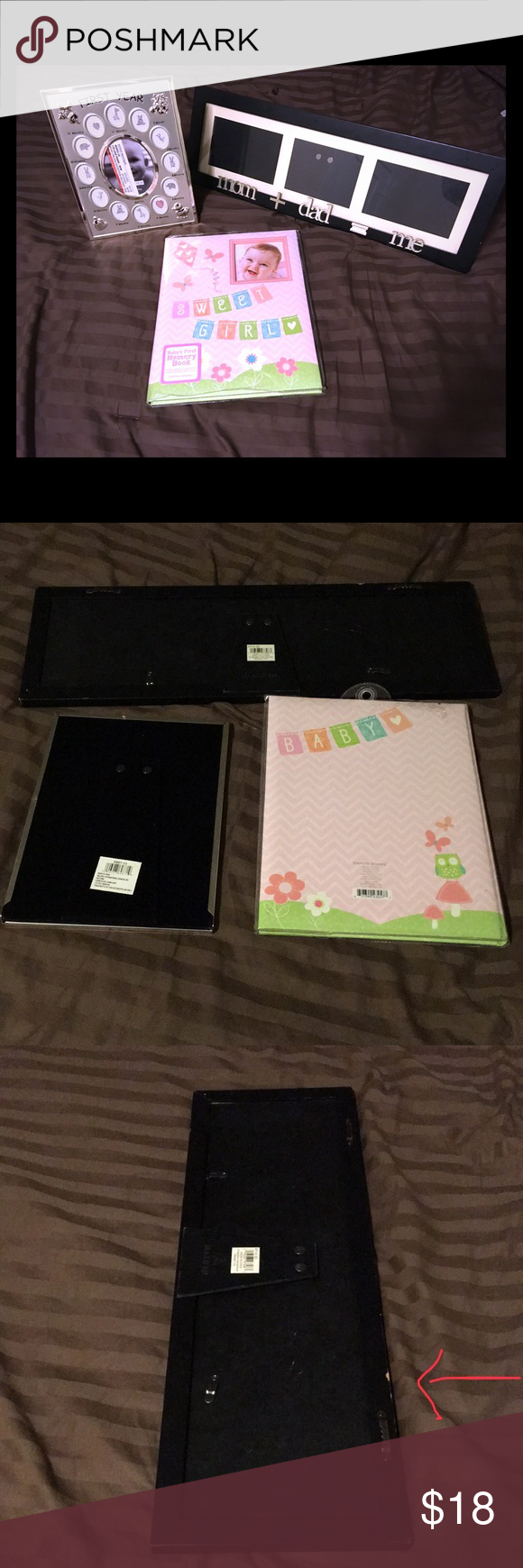 9fa4ad1ffdac Frame Duo   Memory book(girl) Stepping stones by CR Gibson Baby 1st Memory