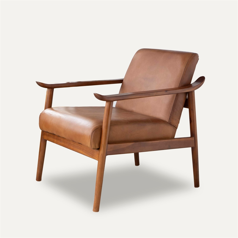 Mid Century Modern Harmony Leather Accent Chair Leather Accent Chair Leather Armchair Accent Chairs