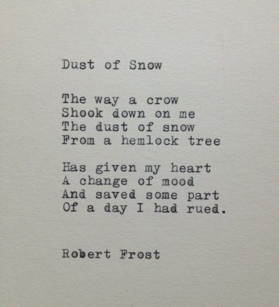 Robert Frost Snow Poem Typed on Typewriter | Etsy