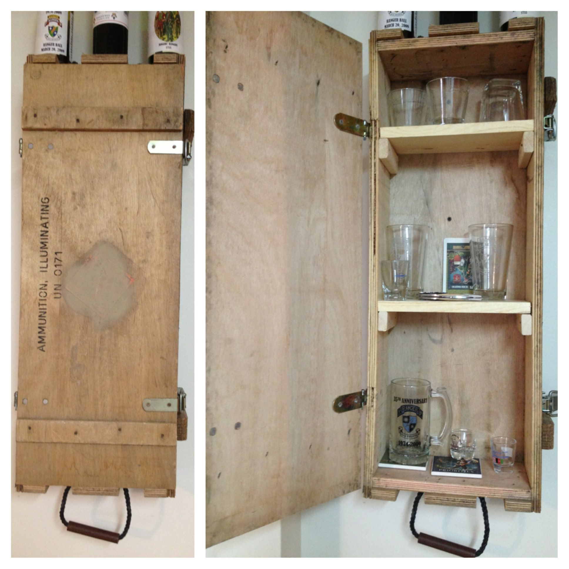 old ammo crate turned into liquor cabinet - Liquor Cabinet Furniture