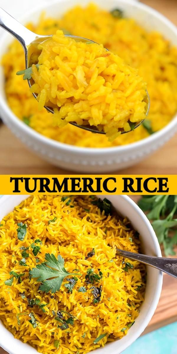 TURMERIC RICE This vibrant Turmeric Rice Recipe is