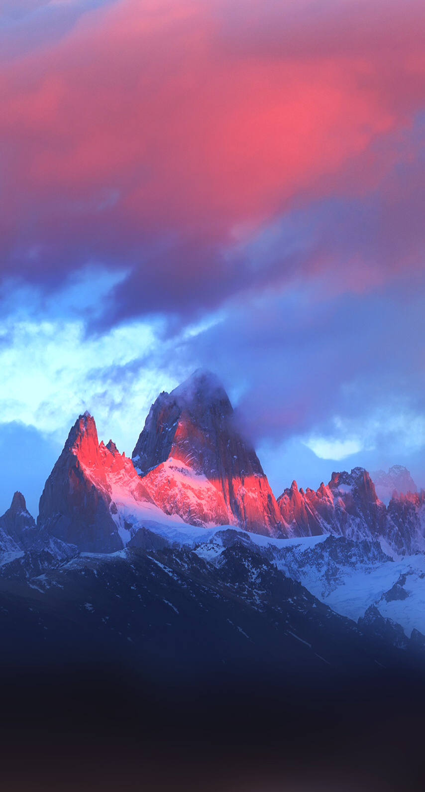 iPhone, Colorful, Purple, Mountains Wallpaper iPhone
