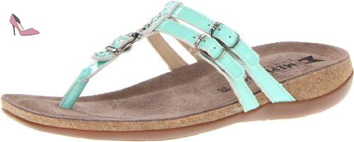Mephisto Axia Femmes Turquoise Cuir verni Chaussures