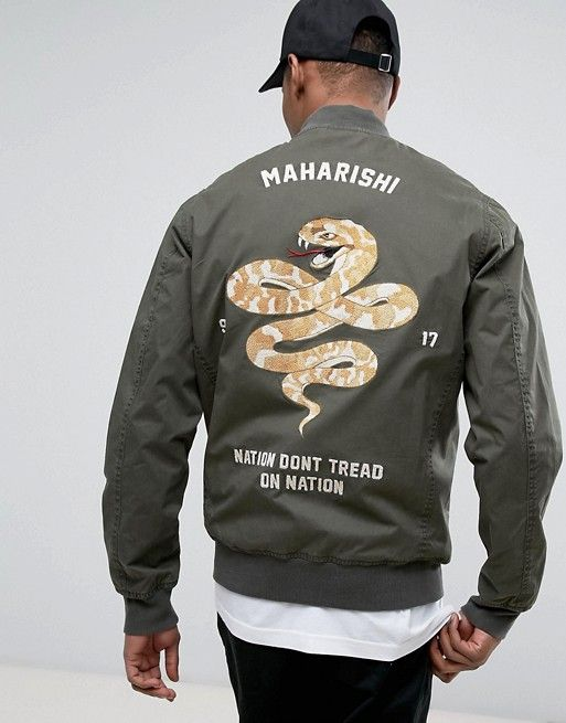 0f241fefb Maharishi Souvenir Jacket With Embroidery | Swag | Fashion, Jackets ...