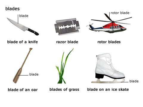 picture of a blade   English vocabulary, Learn english