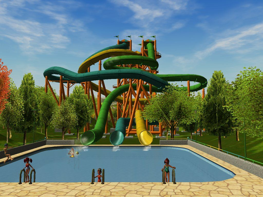 roller coaster tycoon 3 water park - Google Search | Roller