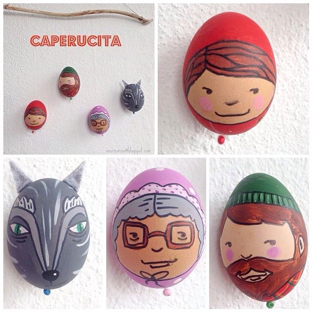 Fairytale Easter eggs Red riding Hood