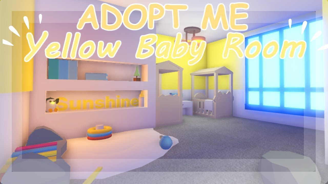 Yellow Baby Room Adopt Me Build Hacks Yellow Baby Room Baby Room Cute Room Ideas