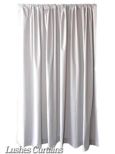 Curtains Ideas 120 inch length curtains : Details about Extra Length Gray 120 inch H Velvet Curtain Long ...
