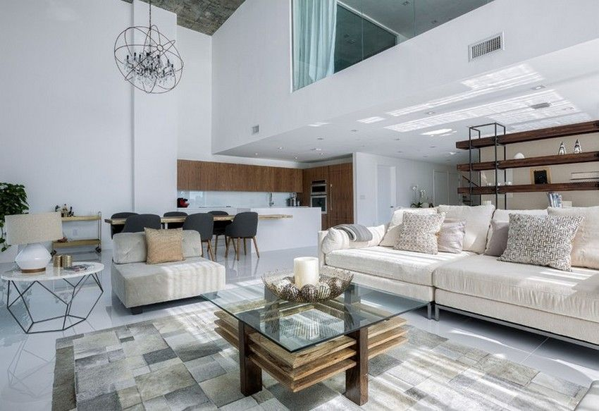Luxurious Two Level Apartment In Miami Enhanced By Textural Diversity