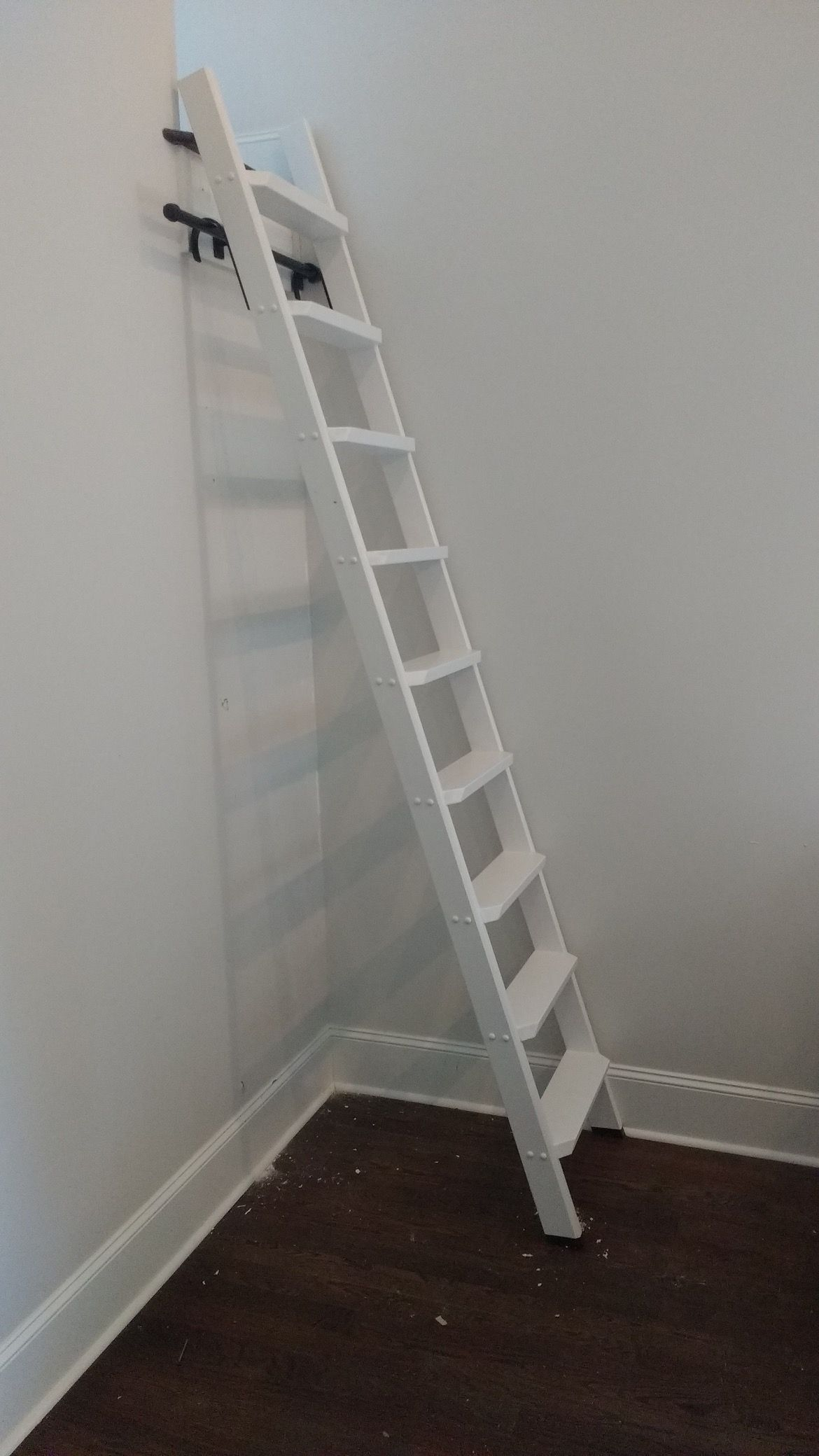 Loft access stairs and ladders san francisco by royo architects - Ladder Ladders Loft Ladder Library Ladder Custom Ladder Customized Ladder