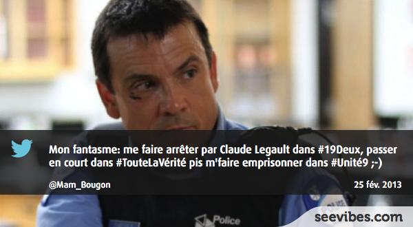 25 Février 2013: Claude Legault de 19-2 fait tourner la tête des téléspectatrices et ça fait le tour sur Twitter au Québec - #Seevibes #TopRetweet #Twitter #19Deux #ToutLaVérité #Unité9 - https://twitter.com/Mam_Bougon/status/306226377345089536