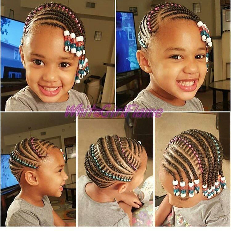 12 9k Likes 130 Comments Nigeria 39 S Top Kiddies Page Fashionkidsnigeria On Instagr Kids Braids With Beads Braids For Kids Little Girl Braid Hairstyles