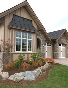 Awesome Traditional Exterior With Copper Window Awning Styles · Stucco  HomesExterior .