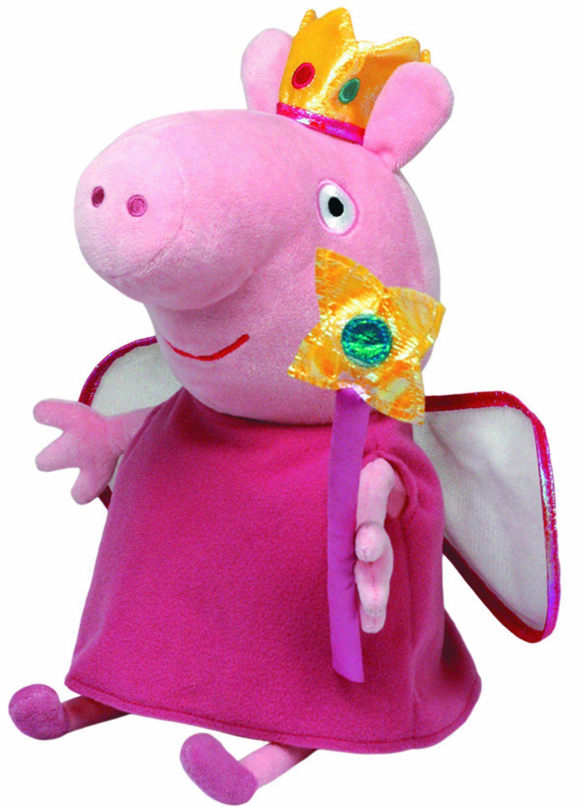 704b5f4cce9 Peppa Pig - Peluche de Peppa Pig vestida de hada (TY)  Amazon.es  Juguetes  y juegos