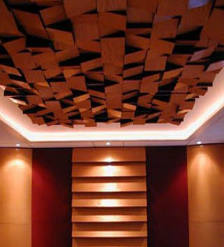 Foam sound absorption panel for ceilings by akustar - Bedroom studio acoustic treatment ...