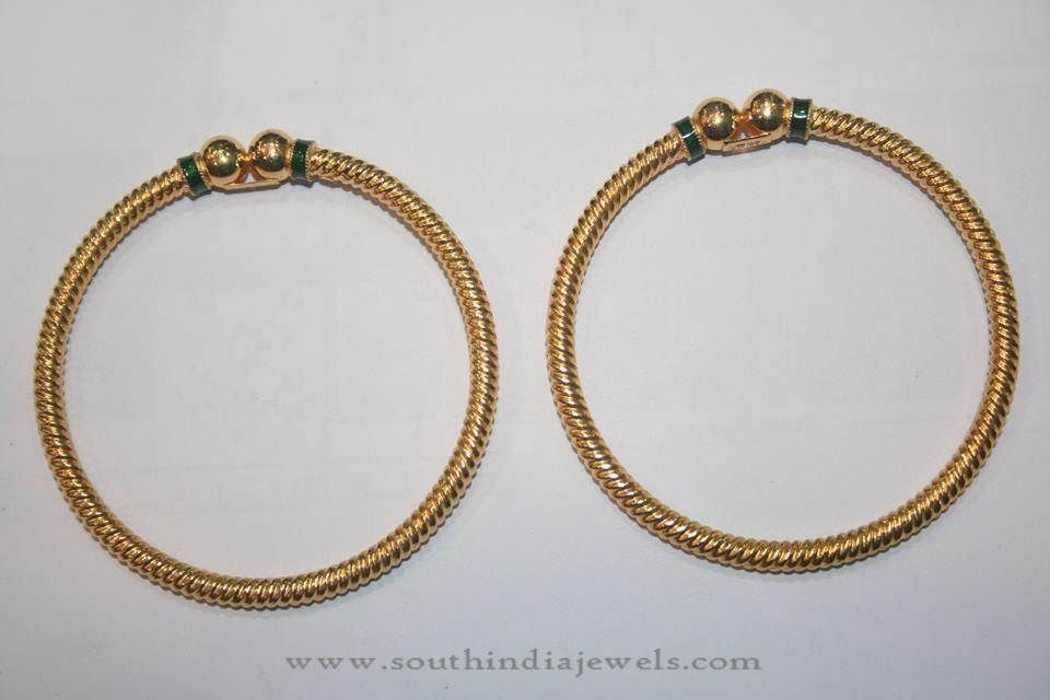 Gold Simple Daily Wear Bangles from Prakurthi | Bangle, Jewel and ...