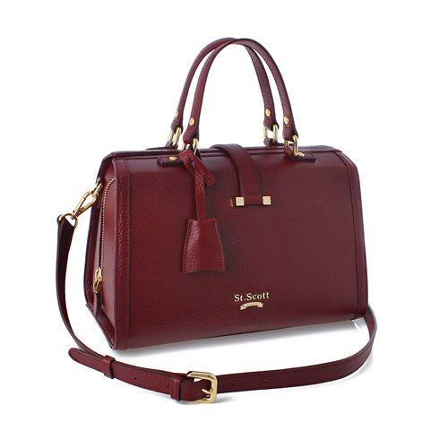 St. Scott London[Thelma Boston Bag] GDWN447 Deep Berry Wine