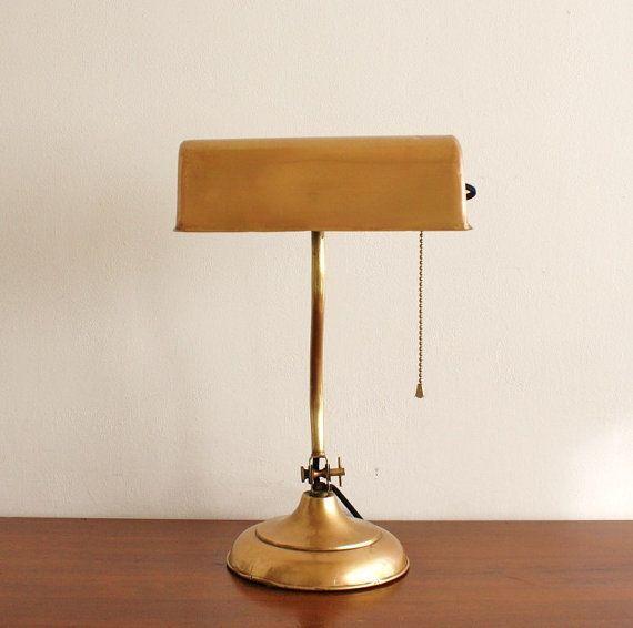 Antique Brass Desk Lamp Patent Dated 1899 By Highstreetmarket
