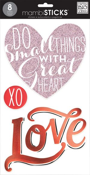 Stl 42 new mambi stickers at michaels craft stores large stickers for scrapbooking decorating or just crafting valentines day or just love
