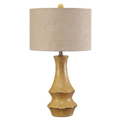 Loon Peak Germain 29 5 Table Lamp Base Color Antique Yellow