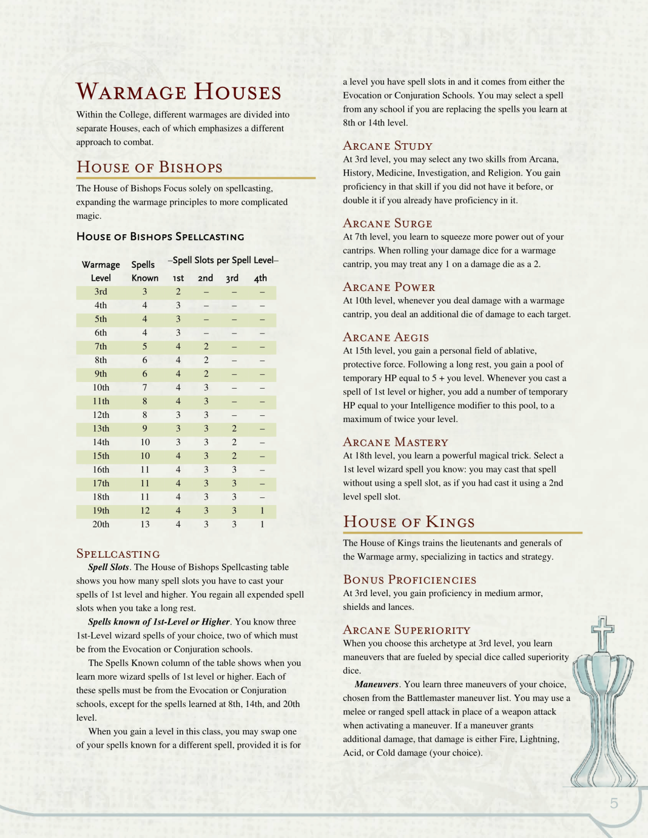 DnD 5e Homebrew — Warmage class by The Middle Finger of VEcna