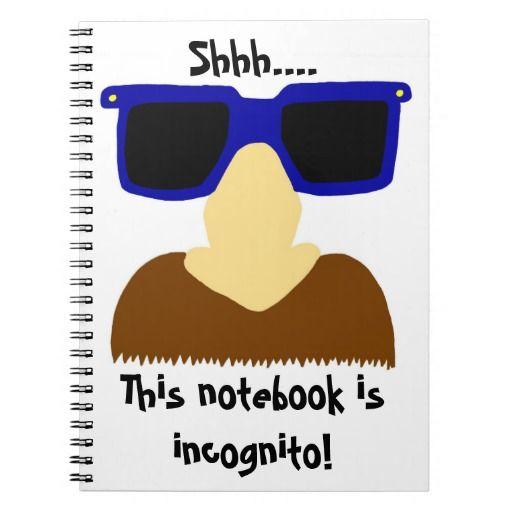 Incognito Mustache Glasses Notebook Zazzle Com Custom Notebooks Incognito College Rule