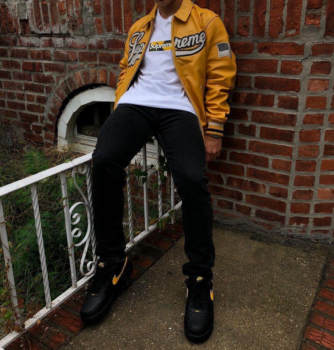 Supreme Leather Varsity Jacket Supreme Brooklyn Box