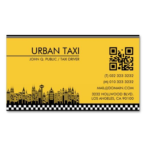 Modern Qr Code Cab Taxi Driver Business Card Zazzle Com Taxi Driver Qr Code Business Card Business Cards