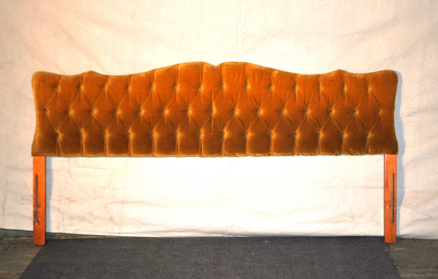 Reserved For Tiaa Vintage Tufted Headboard 1960s Gold